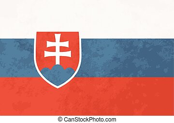 True proportions Slovakia flag with texture - True...
