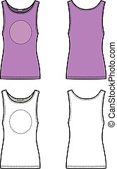Vest - Outline lilac vest vector illustration isolated on...