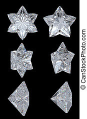 Five pointed, six point diamond stars - Five-pointed,...