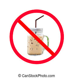 Do not eat ice coffee sign.
