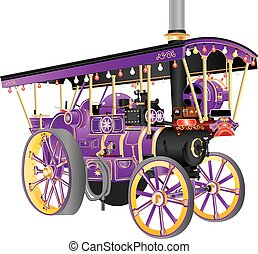 Steam Traction Engine - A Vintage Steam Traction Engine used...