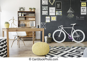 Functional home office idea - Modern home space with...