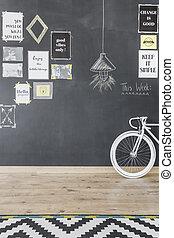 Chalkboard wall design idea - New style flat with chalkboard...