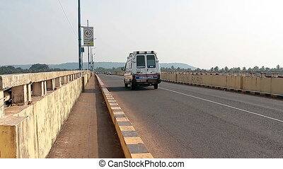 Big traffic on the Siolim bridge