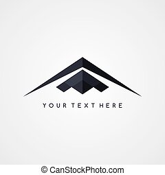 stealth logo aircraft airplane logotype theme vector art