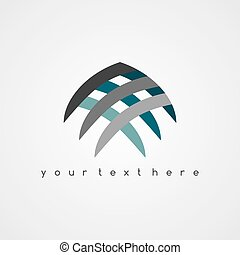 Vector sign abstract Fish logo theme art illustration