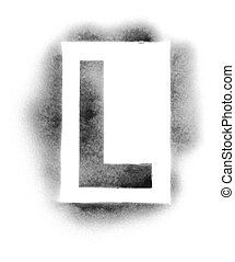 Stencil letters in spray paint