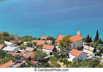 Mediterranean village on the Croatian sea coast