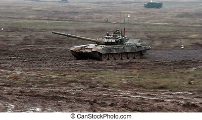 Military tank biathlon competition - Volgograd, Russian...