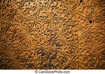 karatay madrasa - door decoration in Karatay madrasa