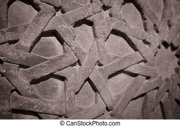 Karatay madrasa - stone carving in the museum karatay