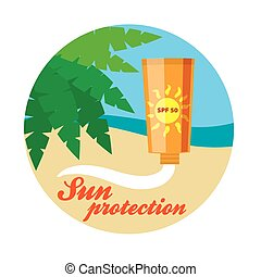 sticker sunscreen illustration - sticker sunscreen color...