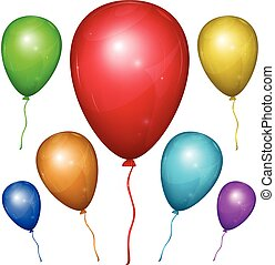 Vector Balloon. Color set. - Set of shiny vector balloons...