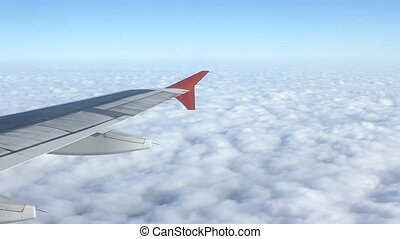 Airplane wing flying plane