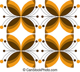 decorative brown flower texture, vector illustration