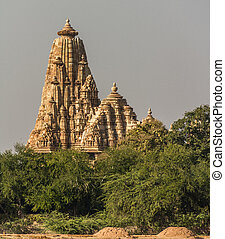 Khajuraho ruins - a temple at the Khajuraho UNESCO  site