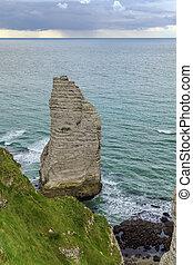 Cliffs in Etretat, France - Natural cliffs on Alabaster...