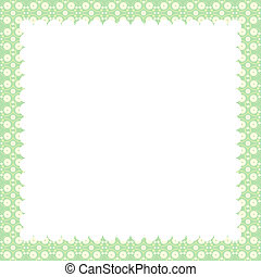 Vintage greeting card template in green tones