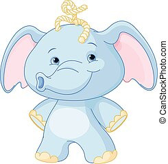 Baby Elephant - Illustration of baby elephant smiling