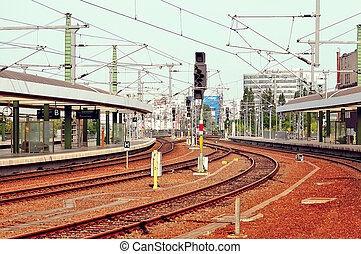 Railway station in Berlin. Germany.