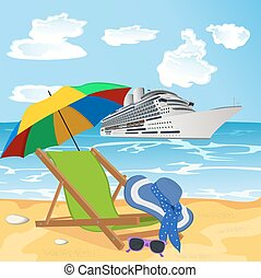 beach, vocation concept - vocation concept, vector...