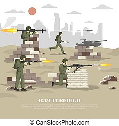 Battlefield Military Cinematic Experience Flat Poster -...