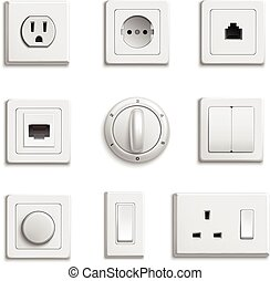 Switches Sockets Realistic Set