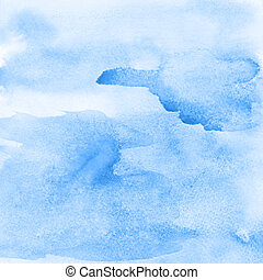 Blue abstract watercolor - Light blue abstract watercolor...