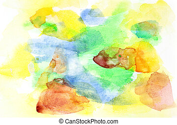 Abstract watercolor background - Handmade abstract...