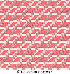 Abstract seamless pattern in retro colors. Stair step...