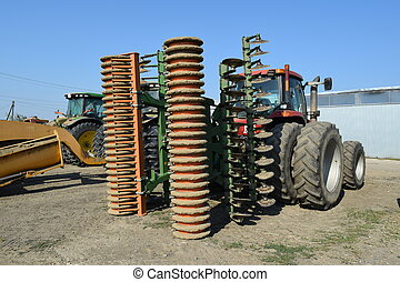 The disk harrow. Agricultural machinery for processing of...