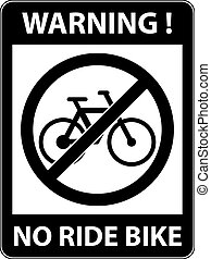 No bicycle sign Vector illustration Flat design - No...