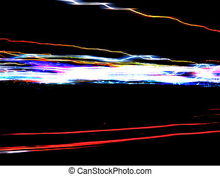 Funky Light Trails Layout - Abstract illustration of...