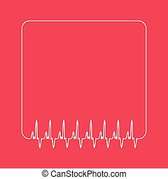 vector blank template of cardio quote