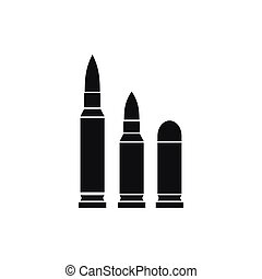 Bullets icon, simple style - Bullets icon in simple style...