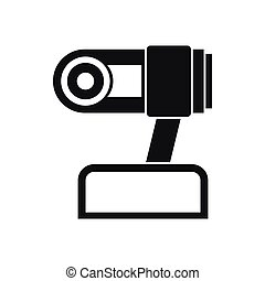 Webcam icon, simple style - Webcam icon in simple style...