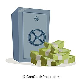 Accumulation and Saving Money concept Vector.