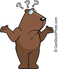 Confused Groundhog - A cartoon groundhog shrugging and...