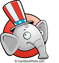 Republican Elephant - A cartoon icon with a republican...