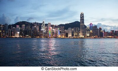 Hong Kong - AUGUST 1, 2014: Hong Kong bay on August 1 in Hong Kong, China.