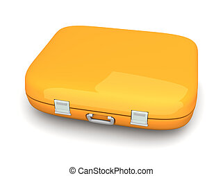Case - 3D rendered Illustration. Isolated on white.