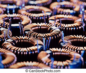 coil - closup of electric coil with little depth of field