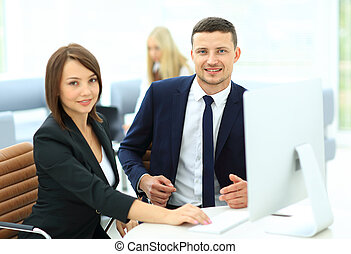 Successful business people - Two successful business people...