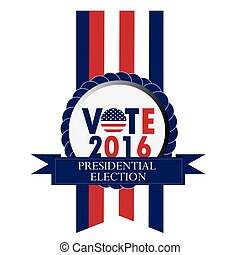 Election day, Vector illustration - Isolated banner with...