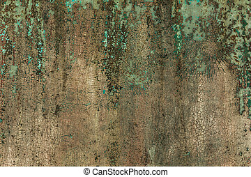Old metal texture with peeling paint