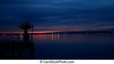 Sunset over Garda Lake, Italy