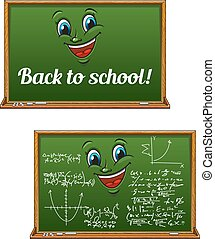 Green chalkboards for Back to School design - School...