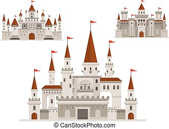 Fortified castle, fairy palace and fortress - Medieval...