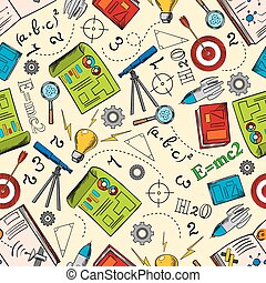 Sciense and education seamless pattern - Physics,...