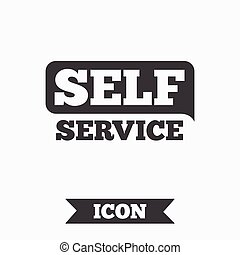 Self service sign icon Maintenance button Graphic design...